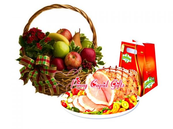 Holiday Ham and Fruit Basket