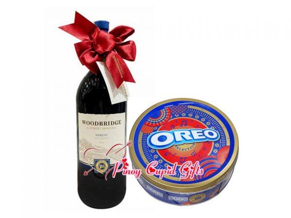 Oreo Celebration Cookies and Merlot Wine