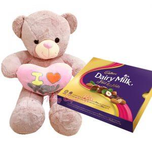 3ft Bear and 300g Cadbury Chocolate Box