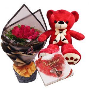 Flowers/Bear/Choco