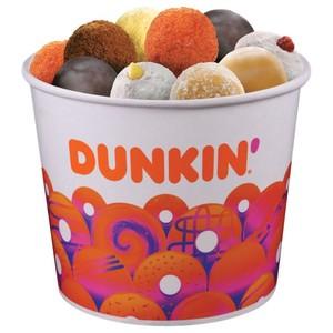 40pcs Dunkin Donuts Assorted Munchkins Bucket
