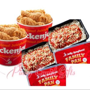 Jollibee Spaghetti Family Pan x2, Jollibee 6pcs Bucket x2