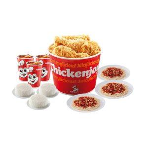 Jollibee 6pcss bucket with Spaghetti
