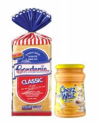 Gardenia Sliced Bread plus Cheese Whiz (regular) 450g