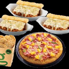 "Greenwich 9"" pizza & 3 ala carte lasagna"