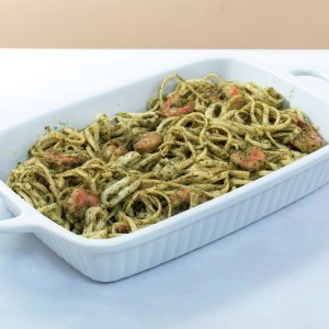Conti's Linguine in Pesto Sauce with Seafood