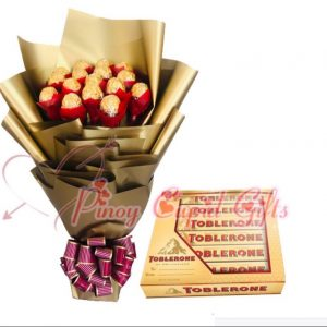 16pcs Ferrero Bouquet, Toblerone Gift Pack 6x50g