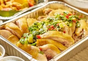 Hainanese White Chicken Platter