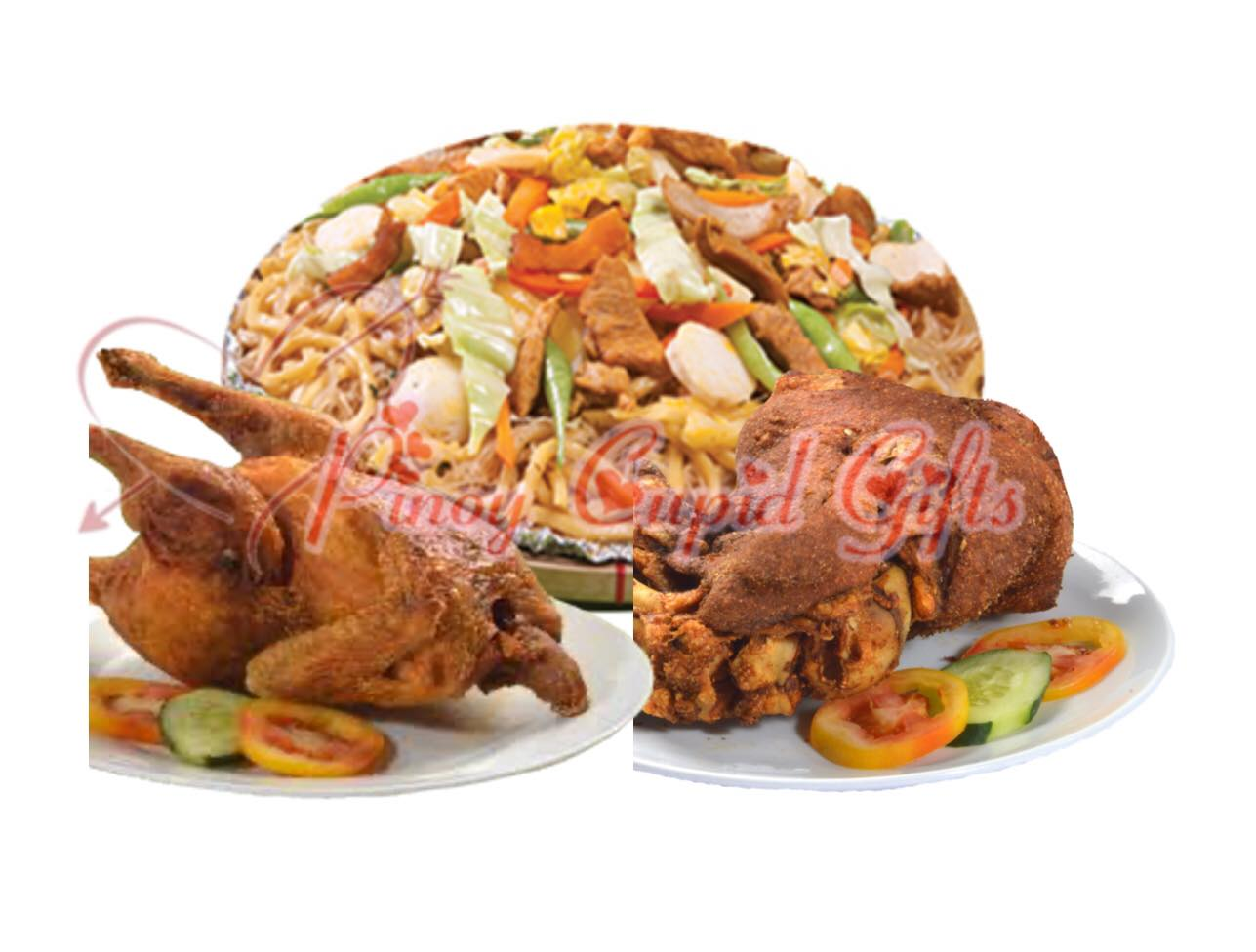 Pancit Miki-Bihon (6-10), Whole Fried Chicken, Crispy Pata-Regular