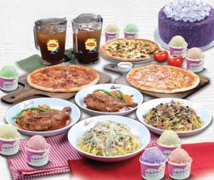 Amici Celebration Mea w/Cakel: 3 Pizzass, 2 Grande Pastas, Pollo Arrostito Chicken, Italian Bread, Drinks