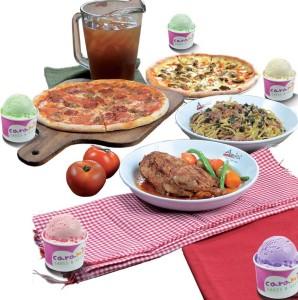 Amici Mini Celebration Meal for 5: 2 Pizzas, 1 Grande Pasta, 6 Pollo Arrostito