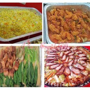 Yang Chow Rice Platter, Sweet & Sour Pork Platter, Crispy Kare Kare Platter, Soy Binondo Pancit Bilao-Large