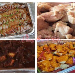 Lechon Macau, Tausi Spareribs, Spareribs in Hot Soybean Paste, Sweet & Sour Fish Fillet