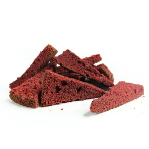 Toasted Red Velvet Cake Rusk