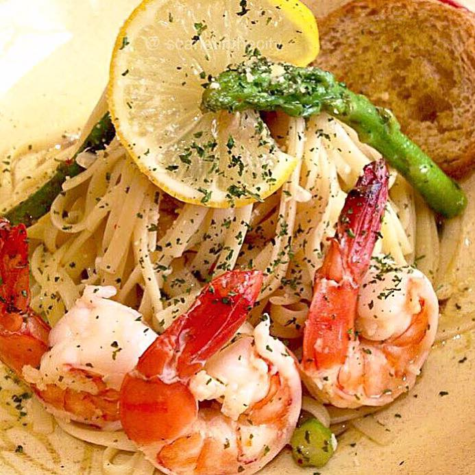 Mary Grace Spicy Lemon Scampi pasta