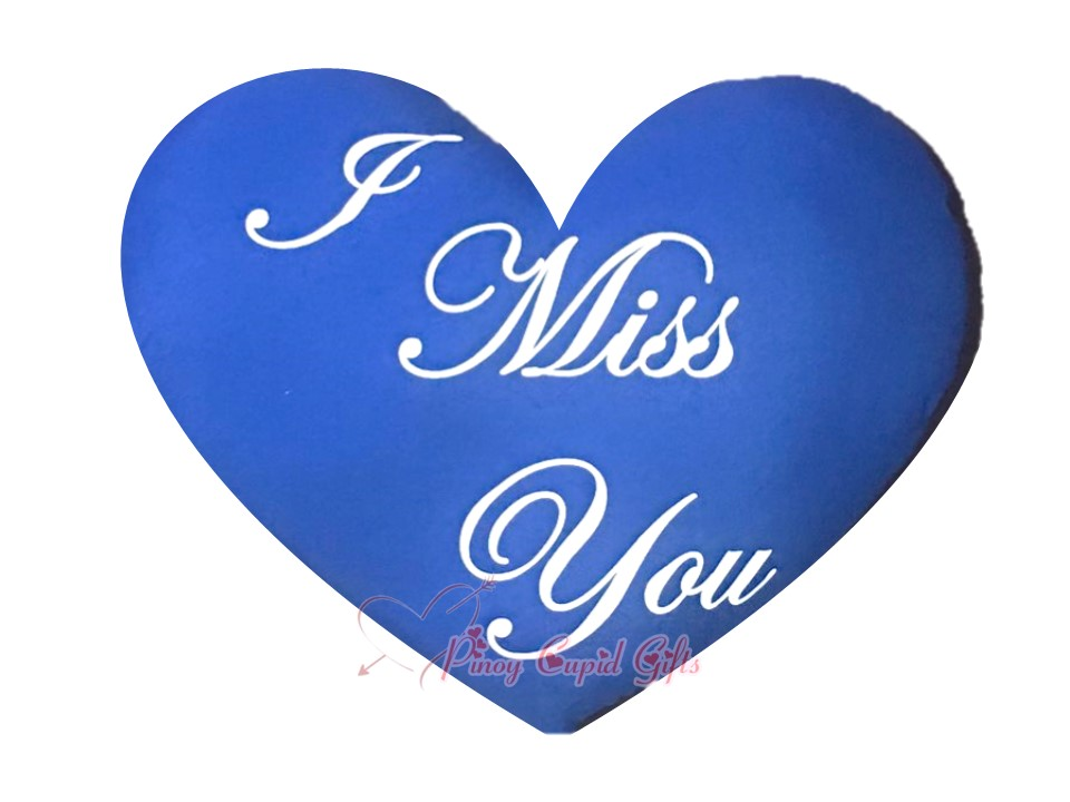 I Miss You Pillow-Blue