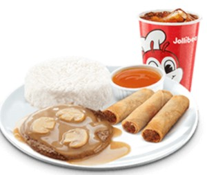 1 pc Burger Steak with Shangai-Value Meal