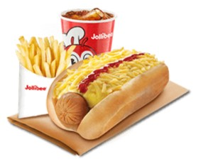 Cheesy Classic Jolly Hotdog w/Fries & Drink