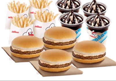 Snack Time Bundle 2: 4 Yumburgers, 4 Regular Fries, 4 Chocolate Sundae