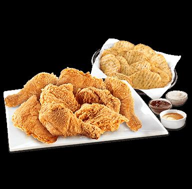 8pcs chicken & Wavess
