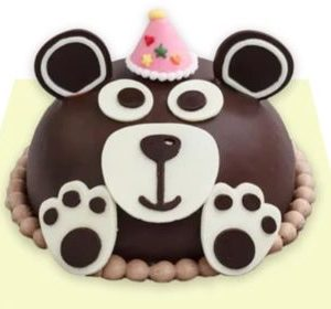 Party Bear Cake with Pink Hat by Tous Les Jours