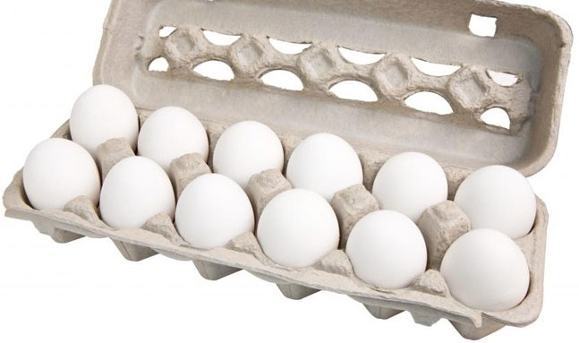 1 dozen large fresh eggs