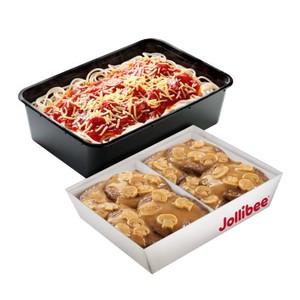 Jollibee-8pcs Burger Steak & Spaghetti