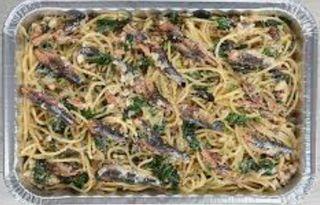 Garlic Italian Sardine Spaghetti