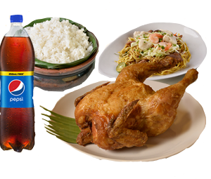 Max's All In One Bundle One: Whole Fried Chicken,Regular Pancit Canton x2,Large Plain Rice