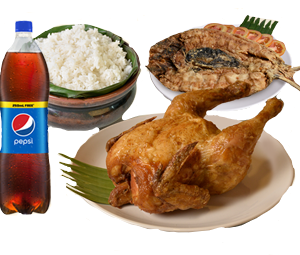 Max's All in One Bundle 2: 1 Regular Whole Fried Chicken, 1 Fried Boneless Bangus, 1 Large Plain Rice