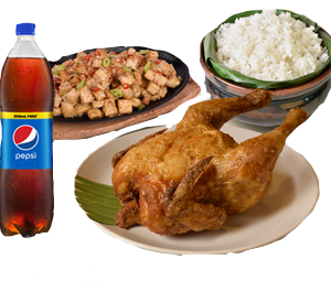 Max's All in One Bundle 3: Whole Fried Chicken, Sizzling Tofu, Large Plain Rice, Pepsi