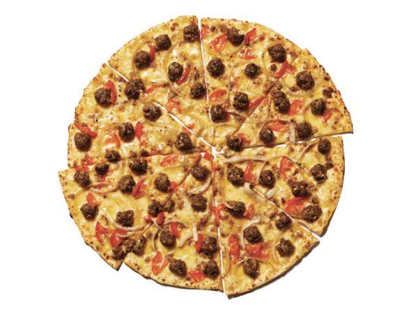 Patty Melt Thin Crust Pizza by Yellow Cab