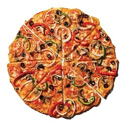 Yellow Cab Garden Special Pizza-Thin Crust