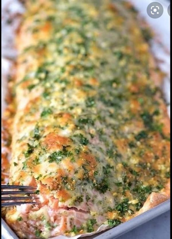 Amici Baked Crusted Salmon
