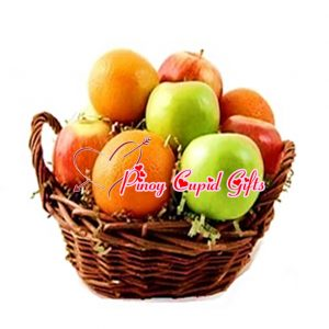 Fruit Basket: 3 apples, 3 oranges, 3peaches, 3 bananas