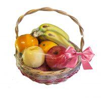 Fruit Basket (3 Oranges, 3 Apples, 3 Pears, 3 Bananas)