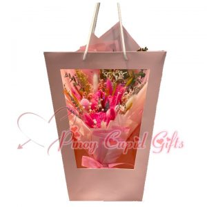 Everlasting Dried Pink Bouquet in a Bag
