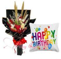 Dried Flower & Birthday Pillow (SALE)