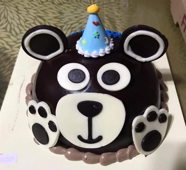 Party Bear with Blue Hat Cake by Tous Les Jours