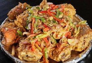 salted egg crab seafood bilao