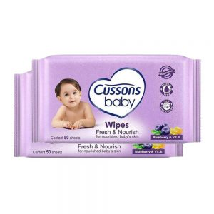 Cussons Fresh & Nourish Baby Wipes 50s x2