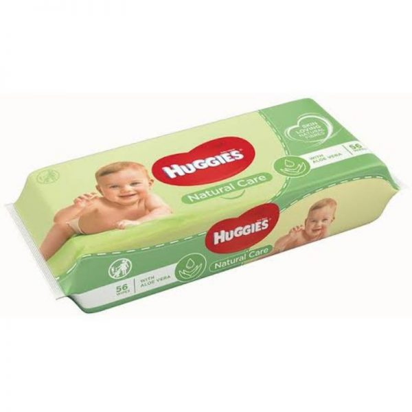 Huggies Natural Care Baby Wipes 56s