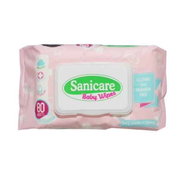 Sanicare Baby Wipes 2 x 80s