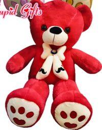 2FT RED MUSTACHE BEAR