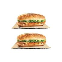 Cheesy X-tra Long Chicken Sandwich  (2 sandwiches)