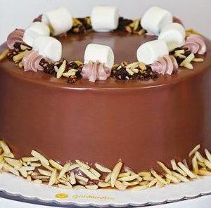 Goldilocks Chocolate Almond Crunch Cake