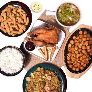 Max's I Love You Pares Bundle 1; Whole Fried Chicken,Tofu Pares, Tofu Fries, Pancit/Chopsuey, Rice