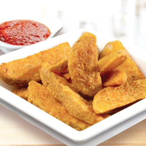 Potato Wedges served with pizza sauce