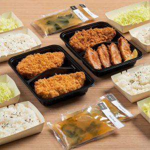 Yabu Katsu Platter; pork, chicken & seafood