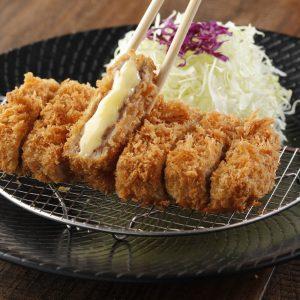 Yabu Menchi Katsu Set Japanese food